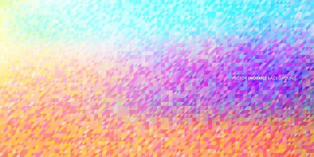 Fond abstrait triangulaire low poly mosaïque Vecteur Premium