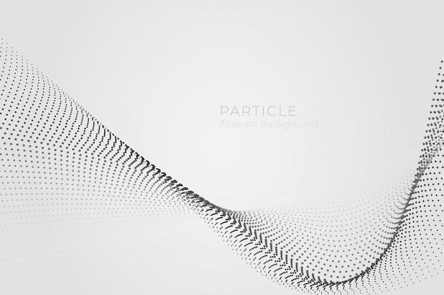 Fond Abstrait Vague De Particules Vecteur Premium