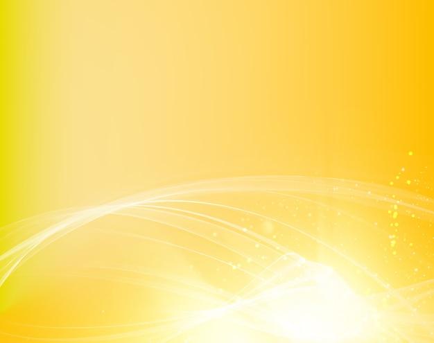 Fond Abstrait Vagues Orange Avec Des Lignes Douces Vecteur gratuit