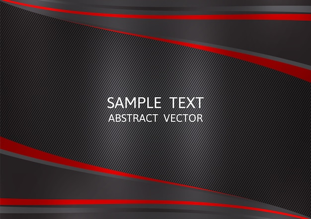 Fond abstrait vecteur de couleur noir et rouge Vecteur Premium