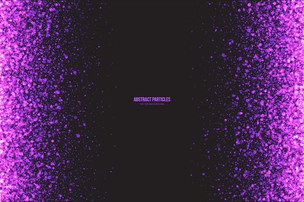 Fond abstrait vector particules violet Vecteur Premium