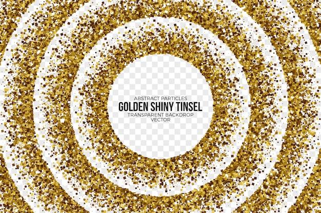 Fond abstrait vector tinsel brillant doré Vecteur Premium