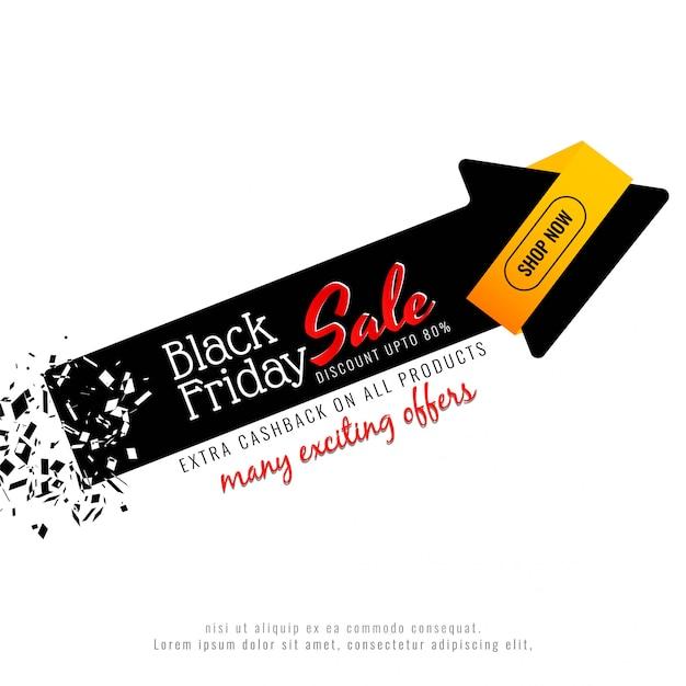 Fond abstrait vente vendredi noir Vecteur gratuit