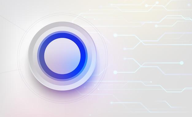 Fond Abstrait. Visualisation Big Data. Connexion Au Réseau Mondial. Contexte Technologique. Vecteur Premium