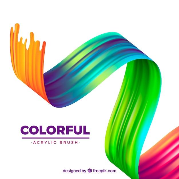 Fond acrylique coloré ondulé Vecteur gratuit