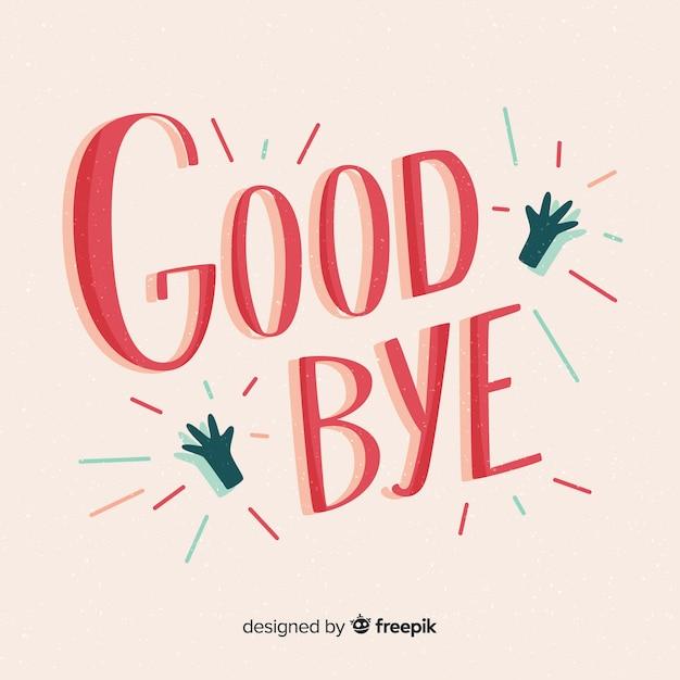 Fond d'adieu Vecteur gratuit