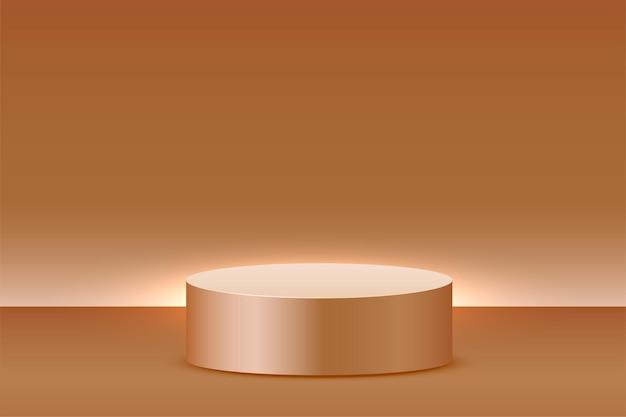 Fond D'affichage De Produit Vide Avec Plate-forme Podium Vecteur gratuit