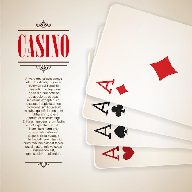 Fond d'affiches de logo de casino Vecteur Premium
