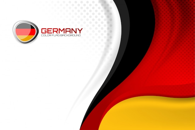 Fond allemand pour la fête des nations Vecteur Premium