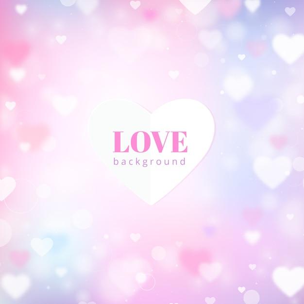 Fond d'amour flou Vecteur Premium