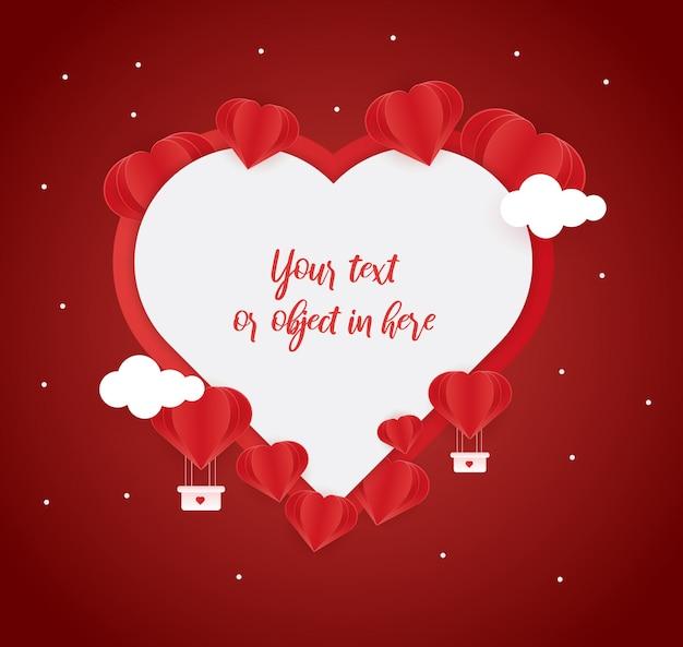 Fond d'amour pour la fête de la saint-valentin Vecteur Premium
