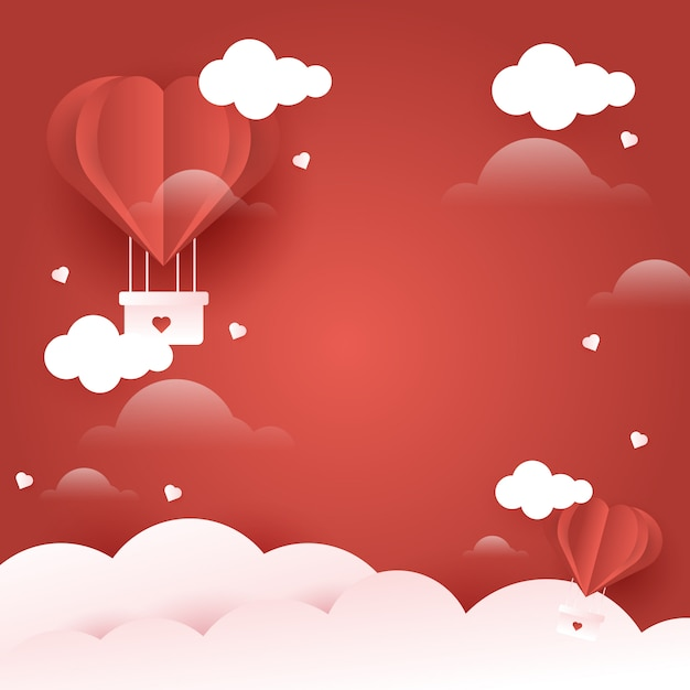 Fond d'amour pour la saint valentin Vecteur Premium