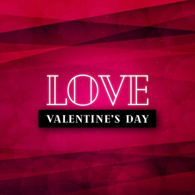 Fond d'amour rouge valentine élégant Vecteur Premium