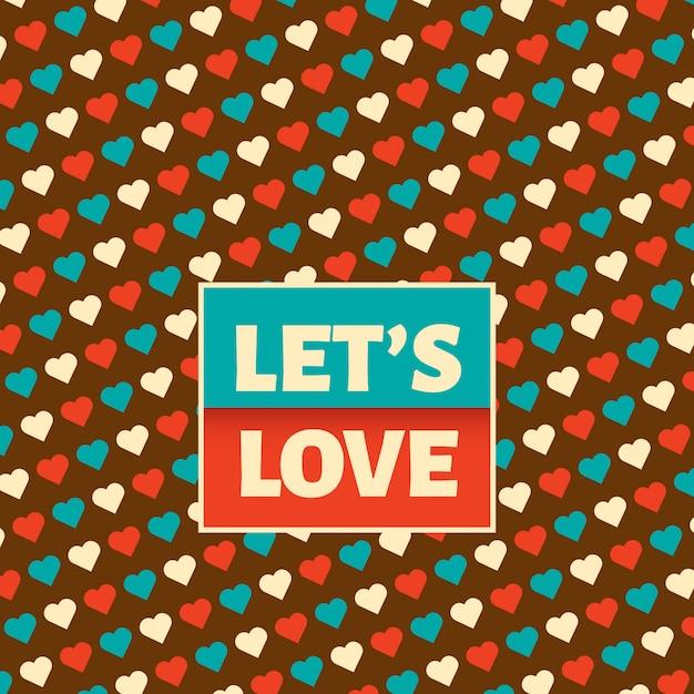 Fond d'amour Vecteur Premium