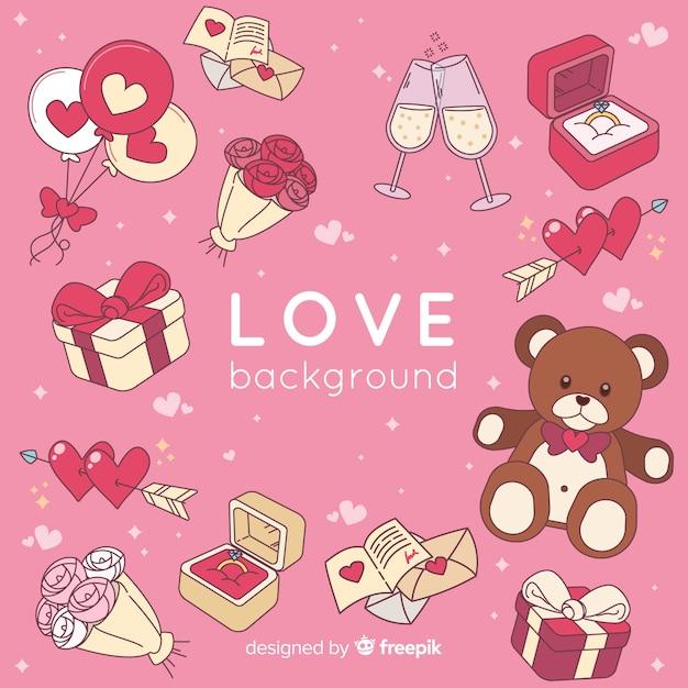 Fond d'amour Vecteur gratuit
