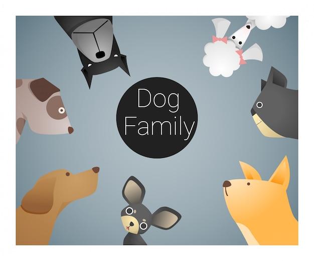 Fond animal avec des chiens Vecteur Premium