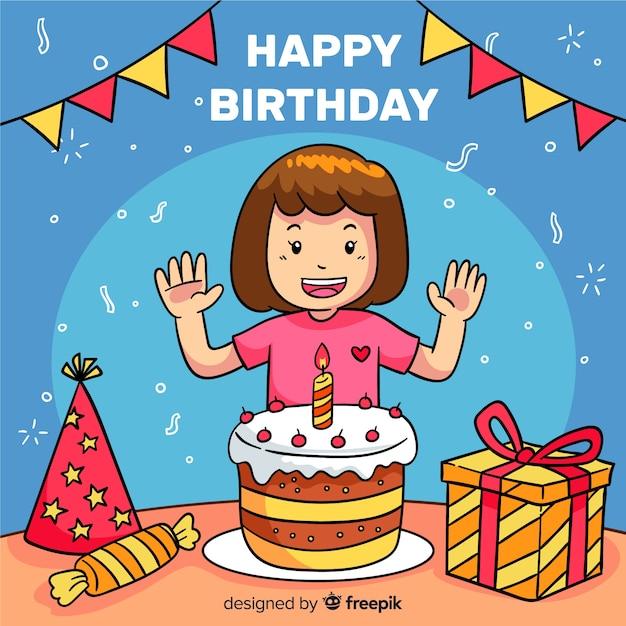 Fond d'anniversaire enfant Vecteur gratuit