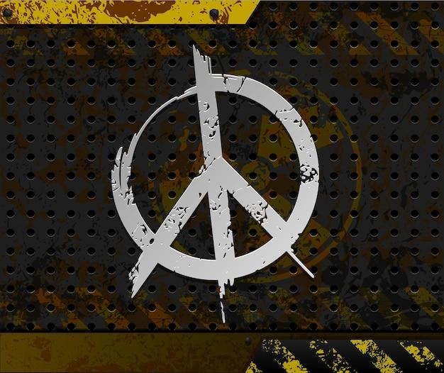 Fond Anti-nucléaire Avec Symbole De Paix Vecteur Premium