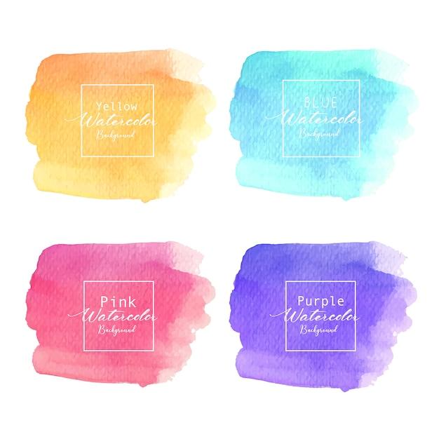 Fond aquarelle abstrait coloré. élément d'aquarelle pour la carte. Vecteur Premium