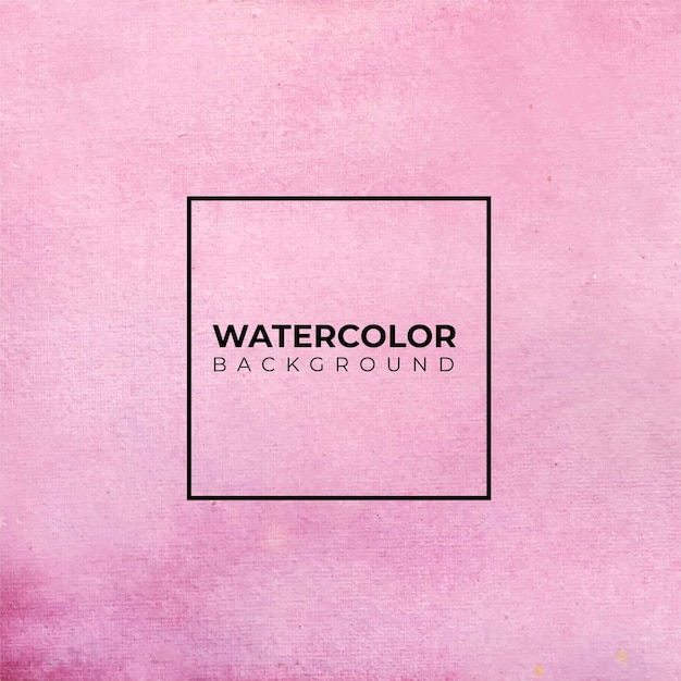 Fond Aquarelle Abstrait Rose, Peinture à La Main. éclaboussures De Couleur Sur Le Papier Vecteur Premium