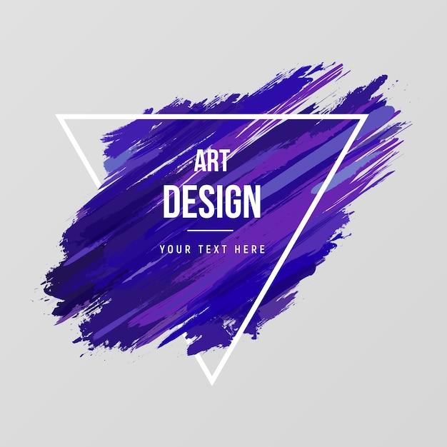 Fond d'aquarelle art moderne Vecteur Premium