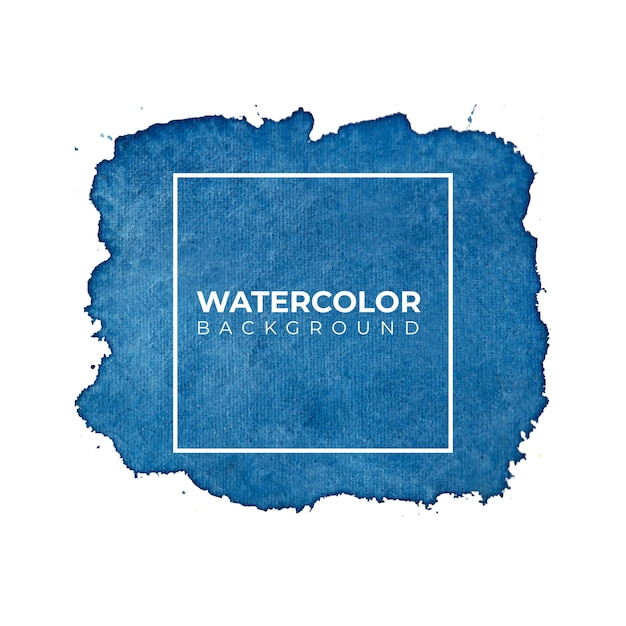 Fond Aquarelle Bleu Pour Les Textures. Abstrait Aquarelle. Vecteur Premium