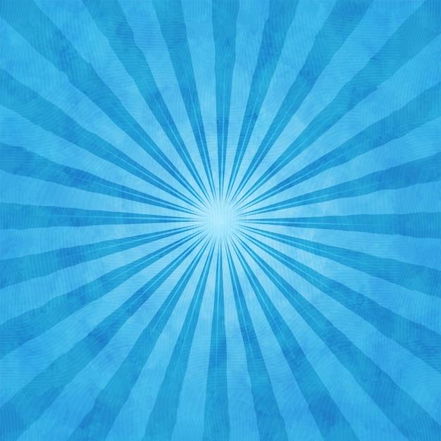 Fond Aquarelle Bleu Avec Des Rayons Vecteur Premium