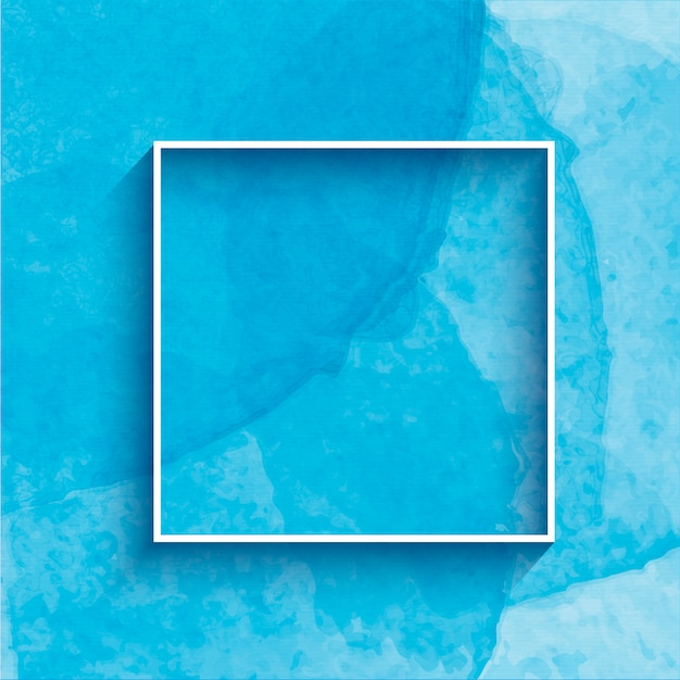 Fond Aquarelle Avec Cadre Peint à La Main Vecteur gratuit