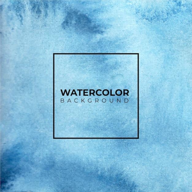 Fond Aquarelle De Ciel Bleu. Modèle Peint Abstrait Avec Texture De Papier. Vecteur Premium