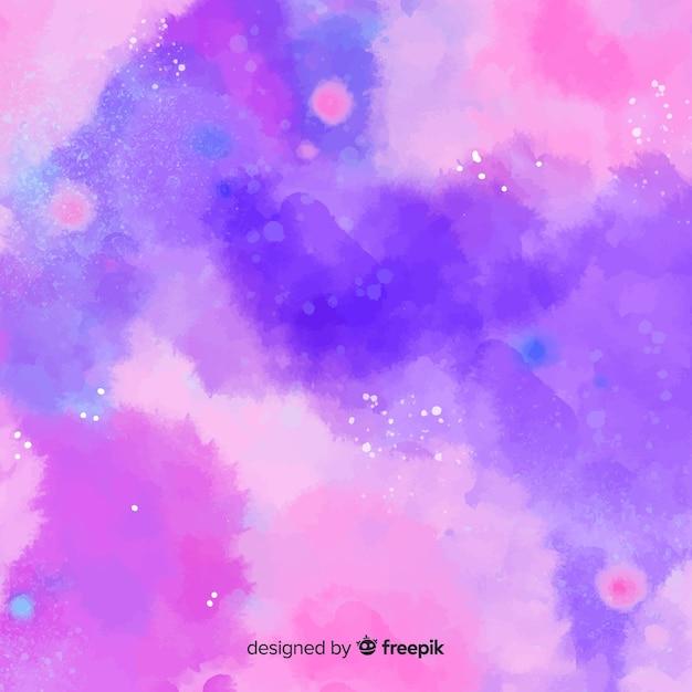 Fond aquarelle coloré avec des taches Vecteur gratuit