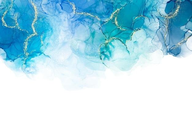 Fond Aquarelle Avec Feuille D'or Vecteur gratuit