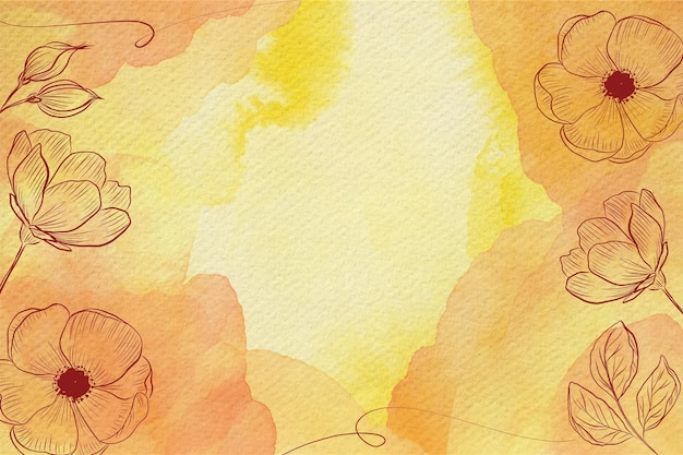 Fond Aquarelle De Fleurs Pastel En Poudre Vecteur gratuit