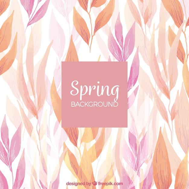 Fond aquarelle de printemps Vecteur gratuit