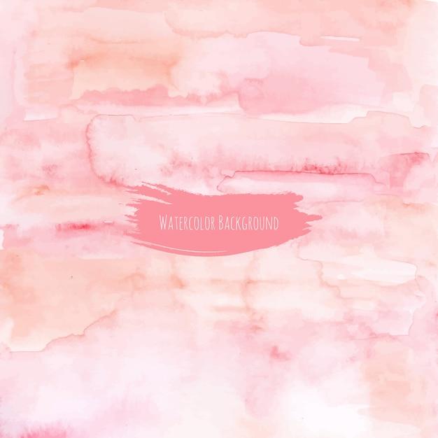 Fond Aquarelle De Texture Rose Pêche Vecteur Premium