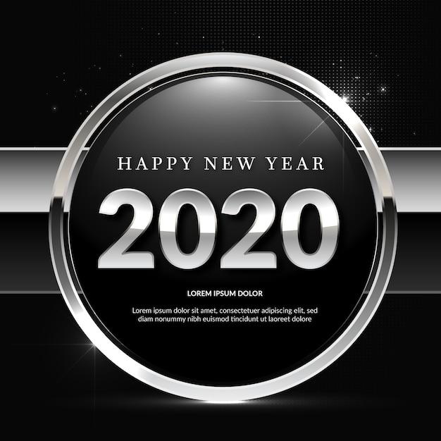 Fond argenté du nouvel an Vecteur gratuit