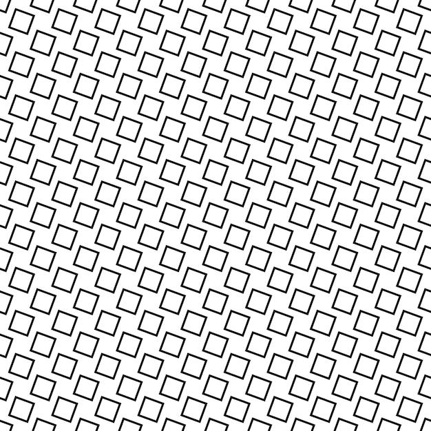 Fond d'arrière-plan abstraite abstraite monochrome - design vectoriel géométrique noir et blanc à partir de carrés angulaires Vecteur gratuit
