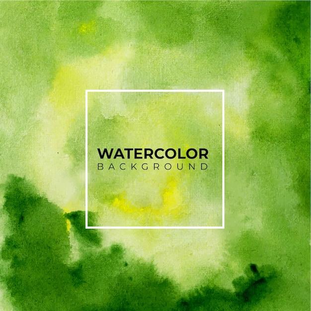 Fond D'art Avec Fond Aquarelle De Couleur Verte. Vecteur Premium