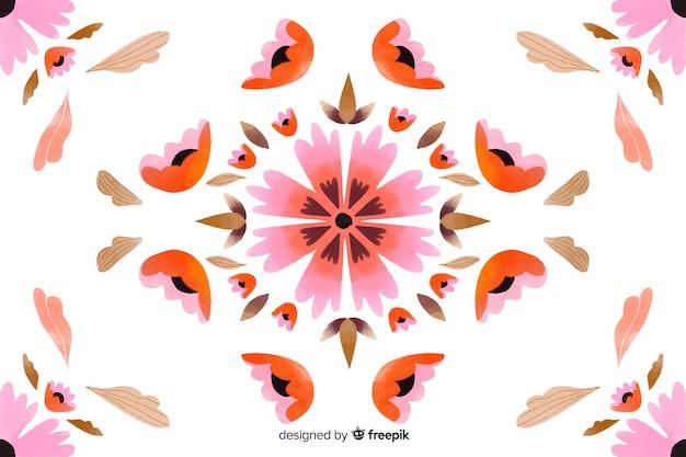 Fond artistique ornement floral Vecteur gratuit