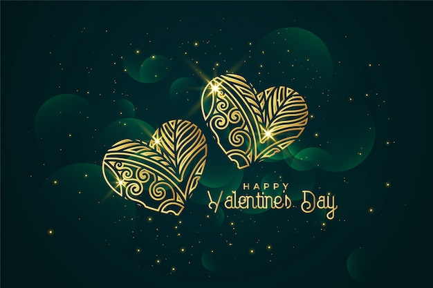 Fond artistique saint valentin Vecteur gratuit
