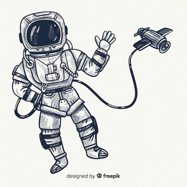 Fond d'astronaute dans l'espace Vecteur gratuit