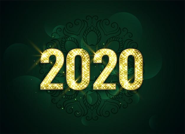 Fond attrayant de bonne année 2020 sparkle Vecteur gratuit