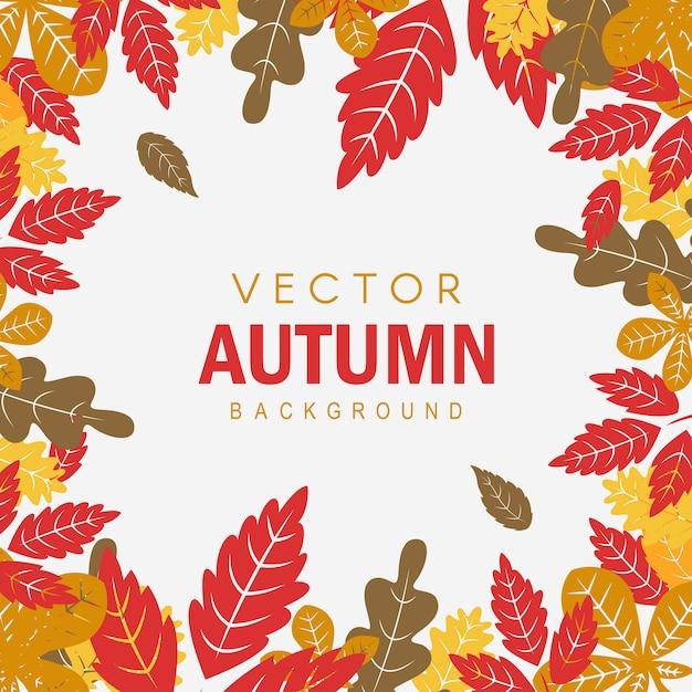 Fond d'automne coloré vecteur créatif Vecteur gratuit