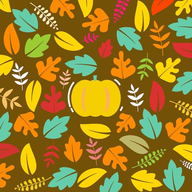 Fond d'automne coloré Vecteur Premium