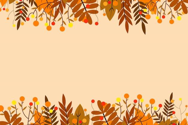 Fond d'automne avec des feuilles Vecteur Premium