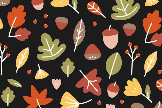 Fond d'automne à motifs Vecteur gratuit