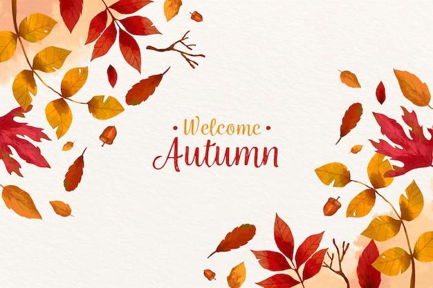 Fond D'automne Vecteur Premium