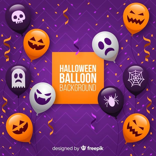 Fond de ballon halloween Vecteur gratuit