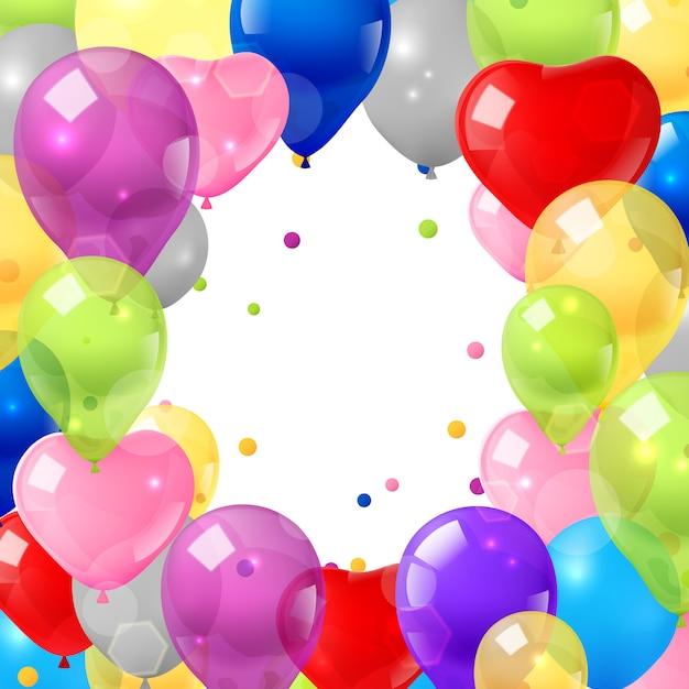 Fond de ballons colorés Vecteur gratuit