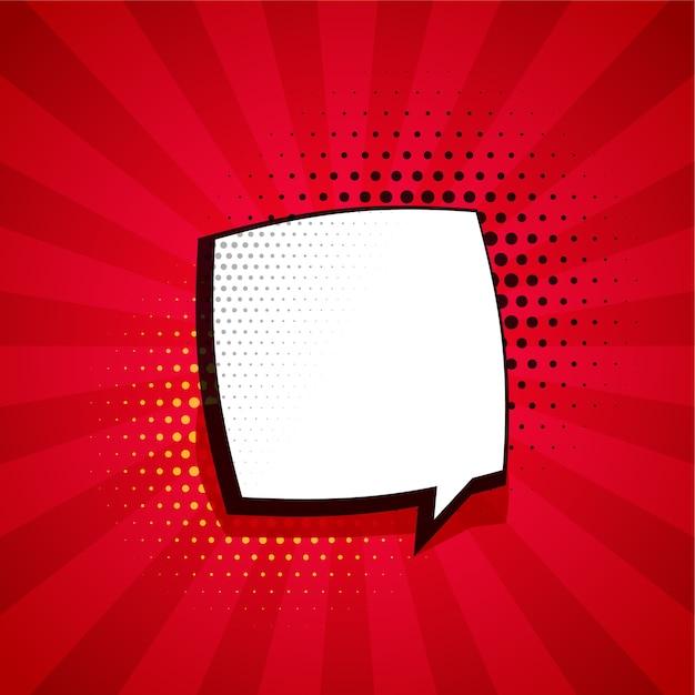 Fond De Bande Dessinée Avec Bulle De Chat Et Espace De Texte Vecteur gratuit