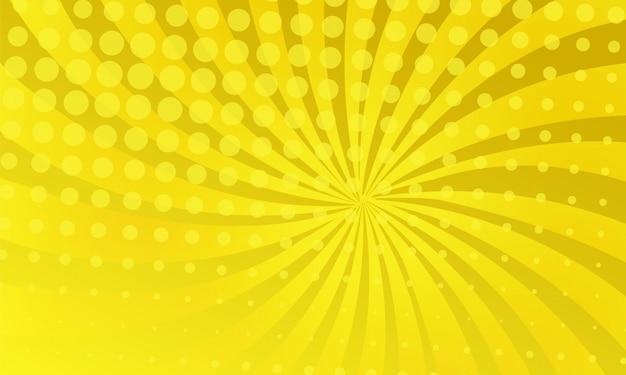 Fond de bande dessinée de couleur jaune Vecteur Premium